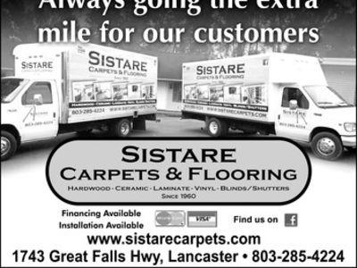 Sistare Carpets Inc. - 1743 Great Falls Hwy Lancaster, SC 29720