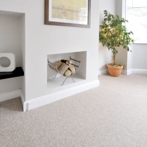 beige wall to wall carpet in a living room
