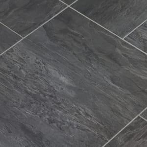gray luxury vinyl tile flooring (LVT)