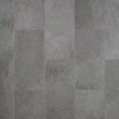 Adura Flex Tile in Meridian Carbon - Vinyl by Mannington