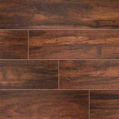 Botanica Wood Plank Porcelain Tile in Teak - Tile by MSI Stone