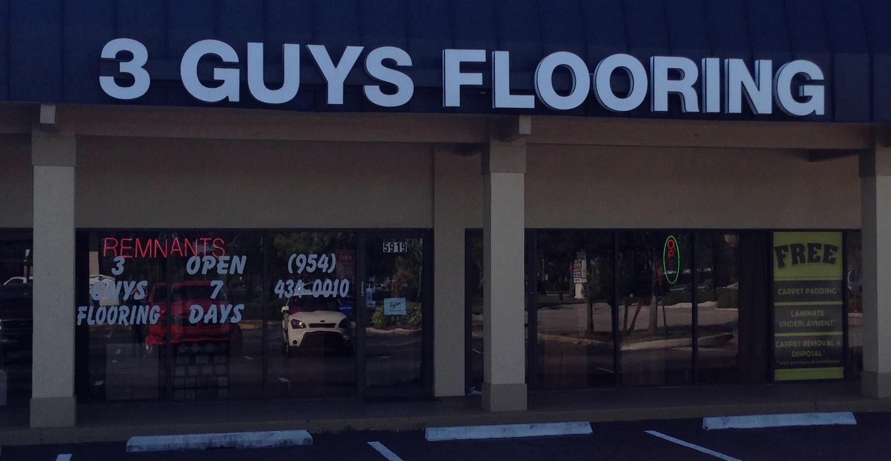 3 Guys Flooring - 5919 S University Dr, Davie, FL 33328