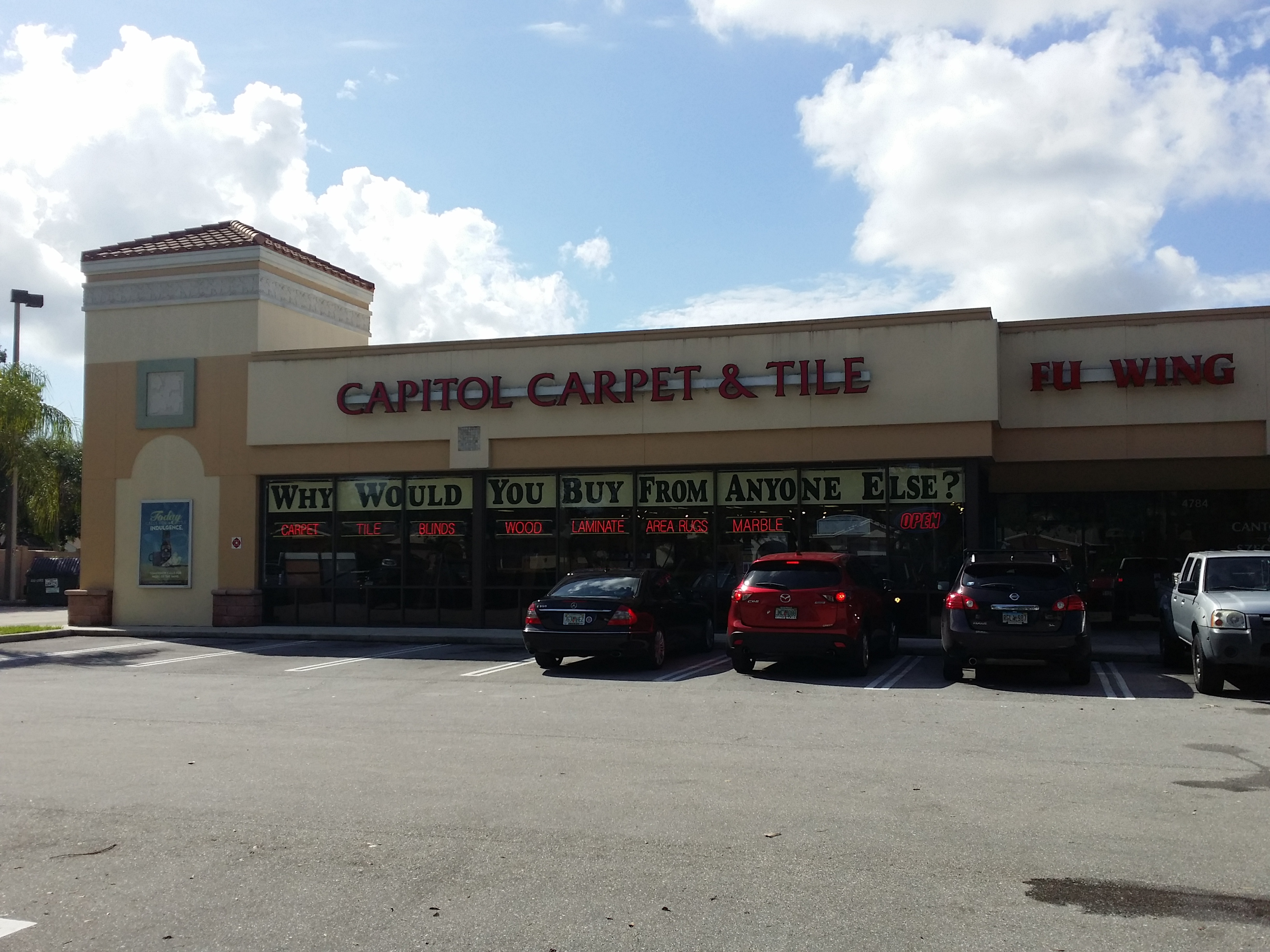 Capitol Carpet & Tile and Window Fashions store front