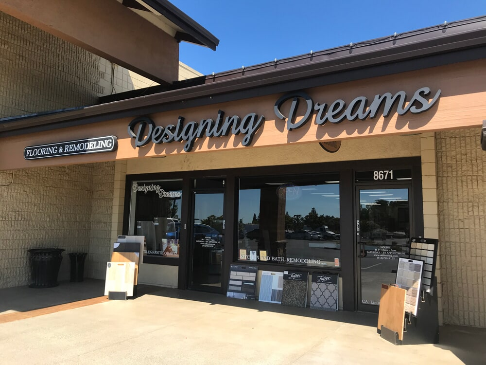 Designing Dreams Flooring & Remodeling store front