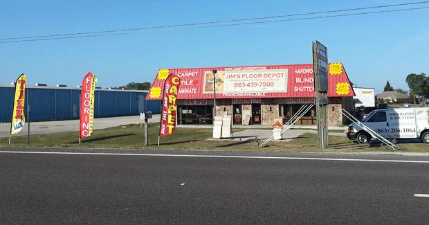 Jim's Floor Depot store front