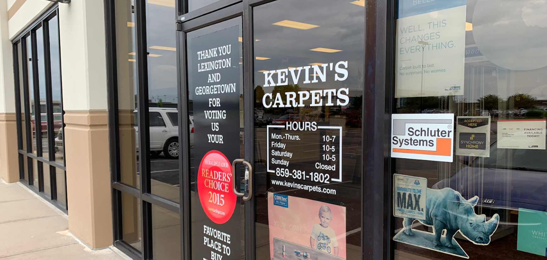 Kevin's Carpets - 3851 Mall Rd #190, Lexington, KY 40503