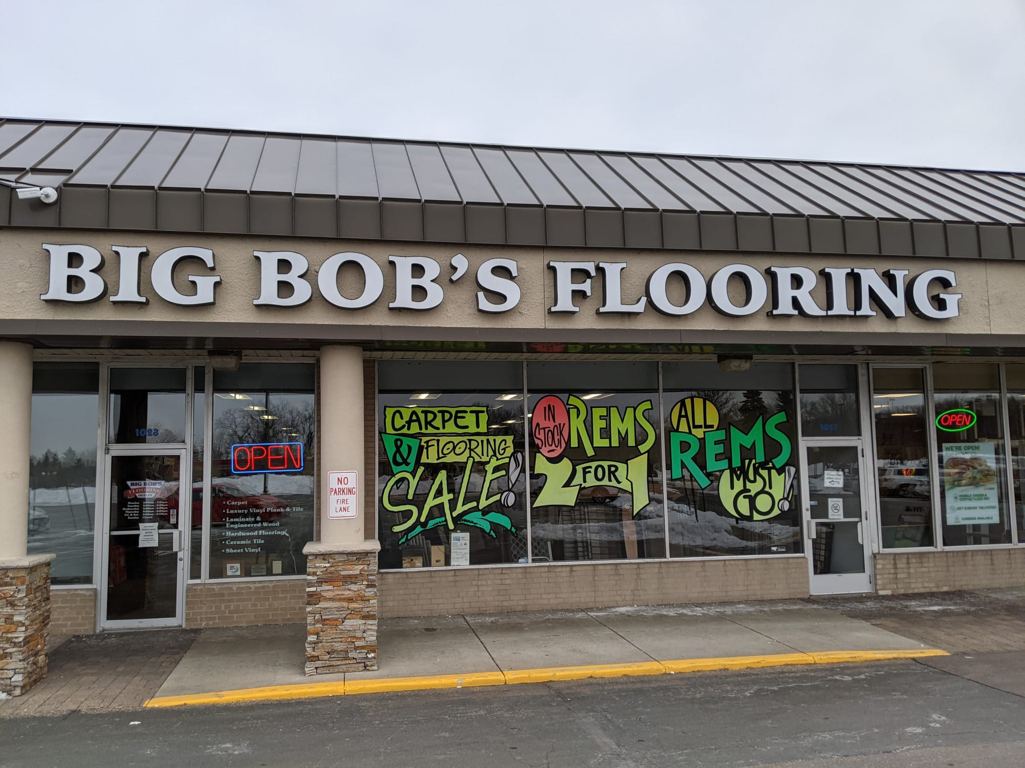 Big Bob's Flooring - 1023 E Moore Lake Dr Fridley, MN 55432