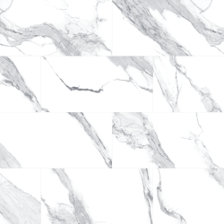 Millhaven   Bullnose   3 X 12   36 Per Case in Statuario Blanc - Tile by Mohawk Flooring