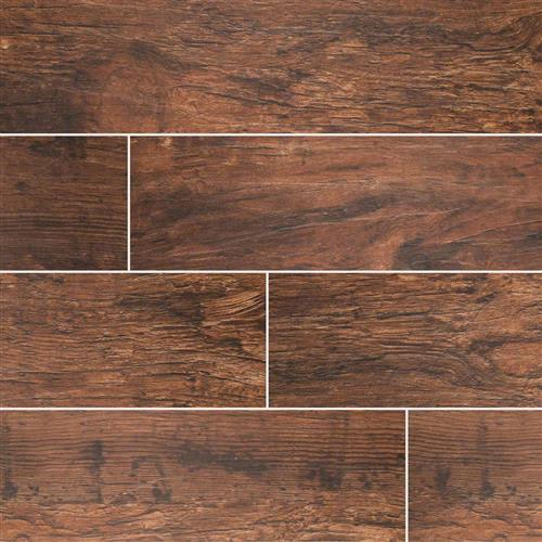 Redwood Wood Plank Porcelain Tile in Mahogany - Tile by MSI Stone