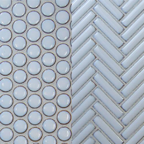 Studio   Ballina in Antique Blue   Herringbone - Tile by Surface Art