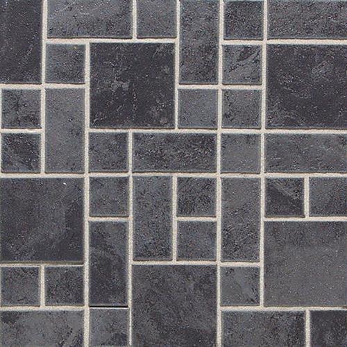 Continental Slate in Asian Black Random Block Mosaic 3x3 - Tile by Daltile