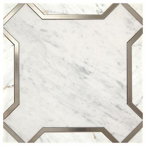 Castellina in Nouveau White And Titanium   11x11 - Tile by Marazzi