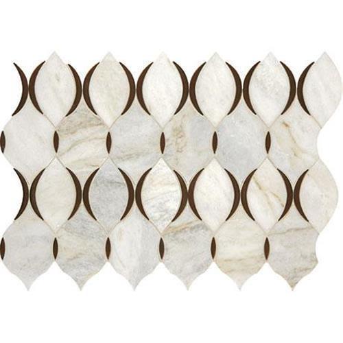 Predella in Lumen White Blend Mosaic (modern Lantern)   11x7 - Tile by Marazzi