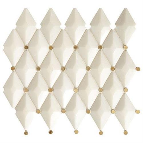 Castellina in Harlequin White And Brass   13x12 - Tile by Marazzi