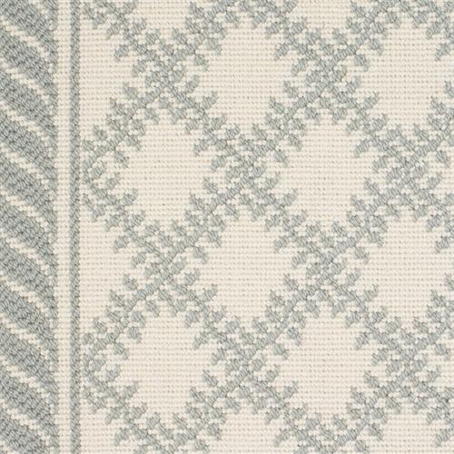 Phoenician II in Leaf Trellis II   Sea Green On White - Carpet by Couristan