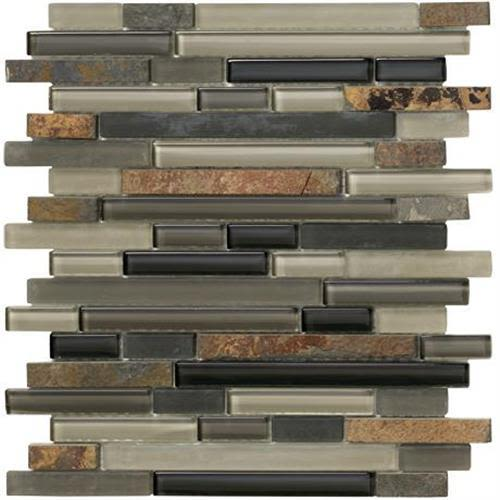 Swatch for Slate Mosaic Strip   12x12 flooring product