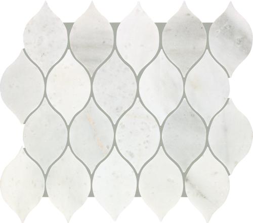 Chateau Elegant in Santorini White - Tile by Mohawk Flooring