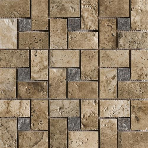 Archaeology in Troy Pinwheel Mosaic - Tile by Marazzi
