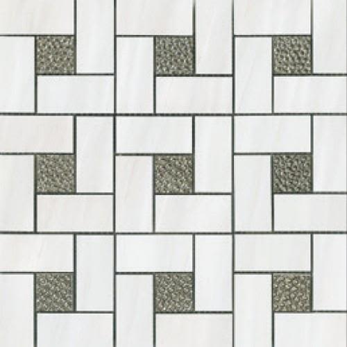 Swatch for White Pinwheel flooring product