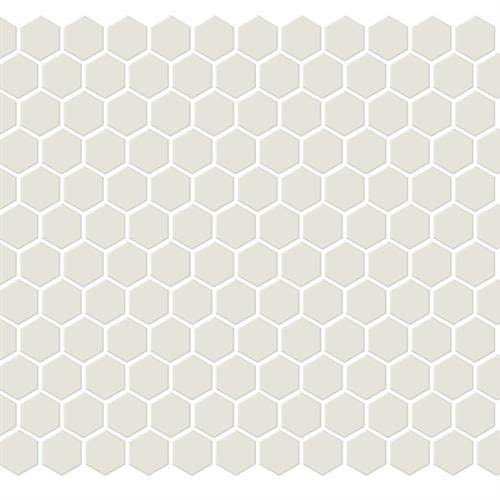 Swatch for Bone   Hexagon flooring product