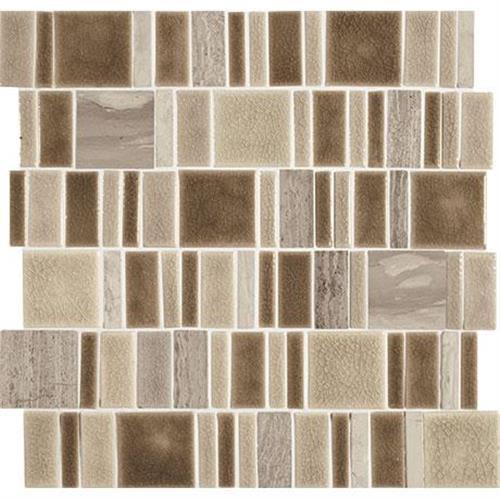 "Swatch for Sandbox Mosaic (square 2""xrandom)   13x13 flooring product"