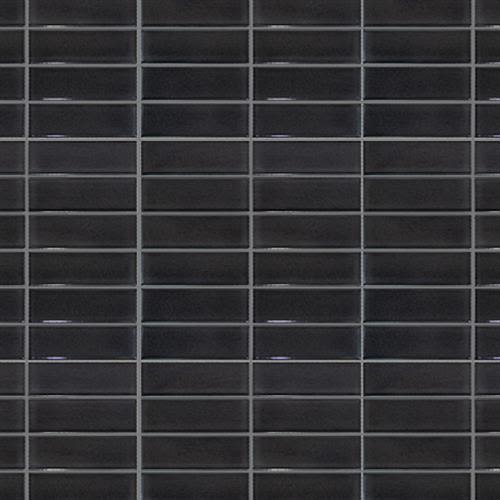 Studio   Nouveau in Charcoal Glossy   Stacked Mosaic - Tile by Surface Art