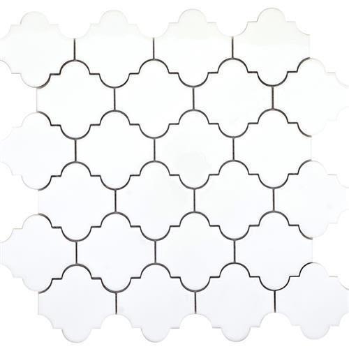 Vogue in White Lantern Mosaic - Tile by Emser Tile