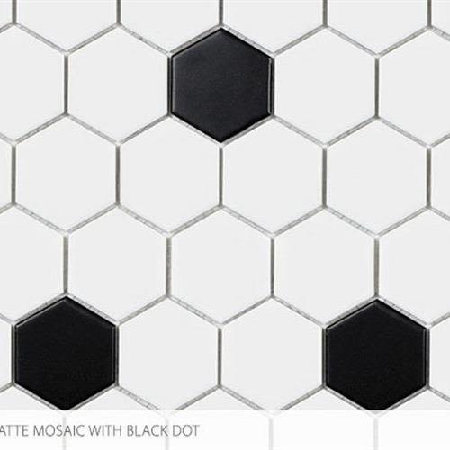 Swatch for 2 X 2 Hex With Black flooring product