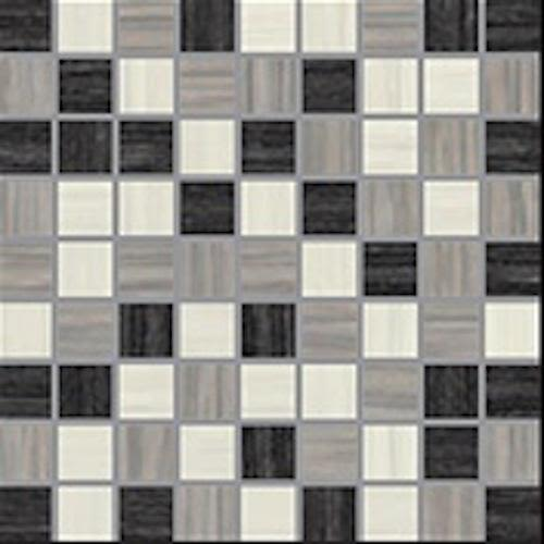 E Stone in Mosaic MIX / White Grey Black - Tile by Happy Floors