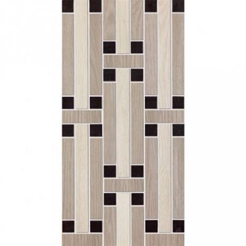 Treverk in White Capuccino Black Mosaic   Decoro MIX   12x24 - Tile by Marazzi