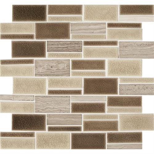 "Midpark Mosaics in Sandbox Mosaic (rectangle 3""xrandom)   13x12 - Tile by Marazzi"