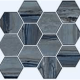 Exotic Stone in Lagoon Polished   Hexagon - Tile by Happy Floors